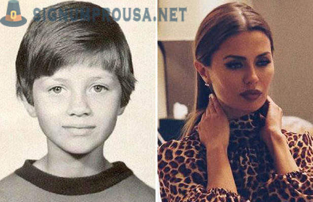 Russian stars as a child and now