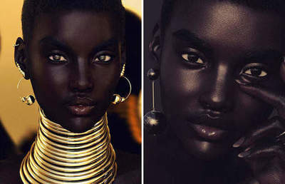 British self-taught photographer, came up with a stunning dark-skinned model