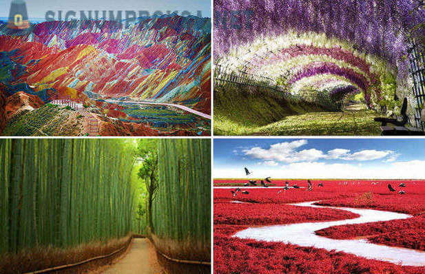 The most colorful places on the planet