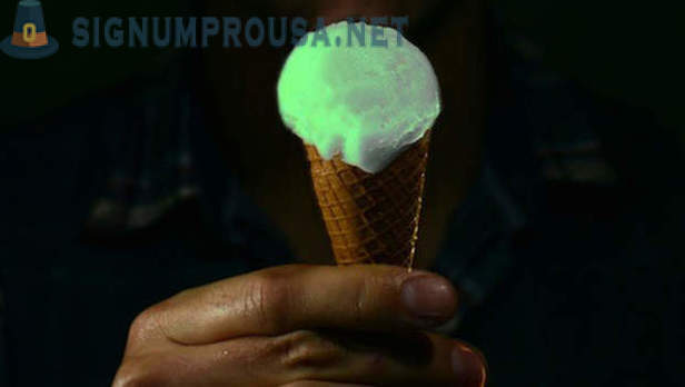 The British company has released a glowing ice cream