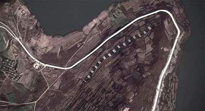 On Google Earth images spotted glorification of Kim Jong-un