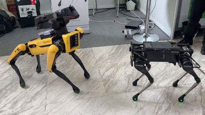 Chinese robot is doing a back flip. How's that, Boston Dynamics?