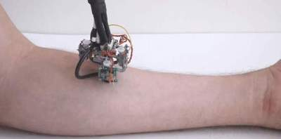 At MIT, created to move around the human body diagnostician robot
