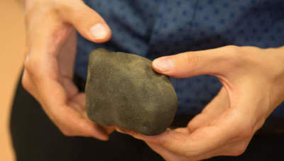 The meteorite has brought to earth mineral which is not present on the planet. Is that possible?