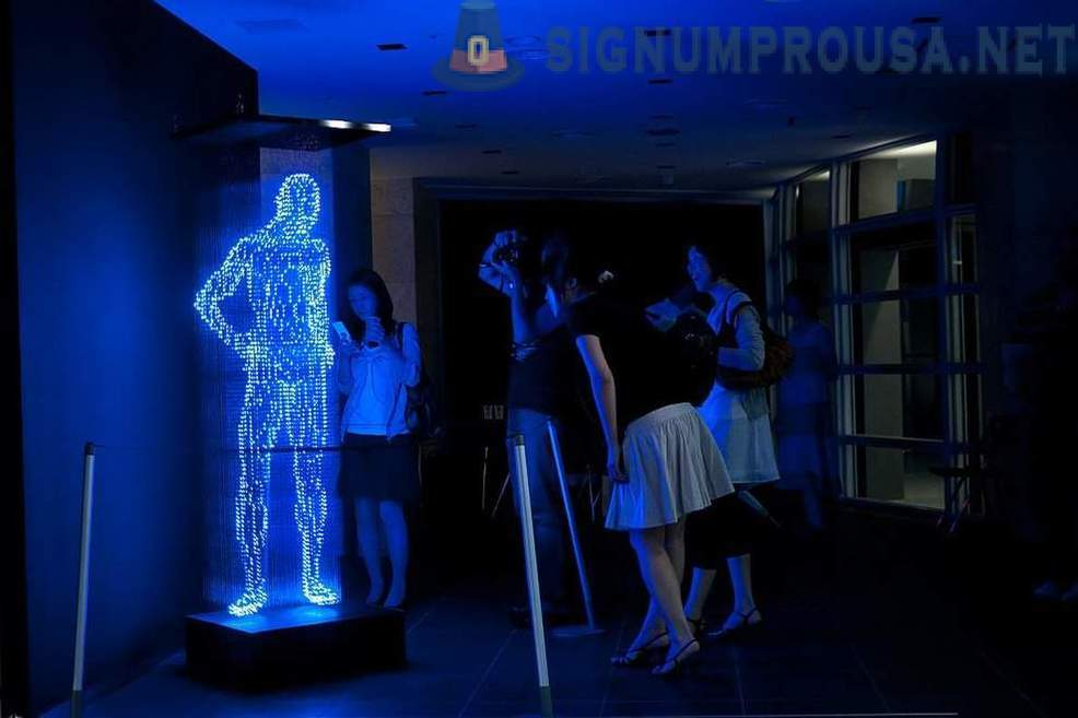 Sculptures made of light-emitting diodes