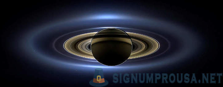Saturn in the lens