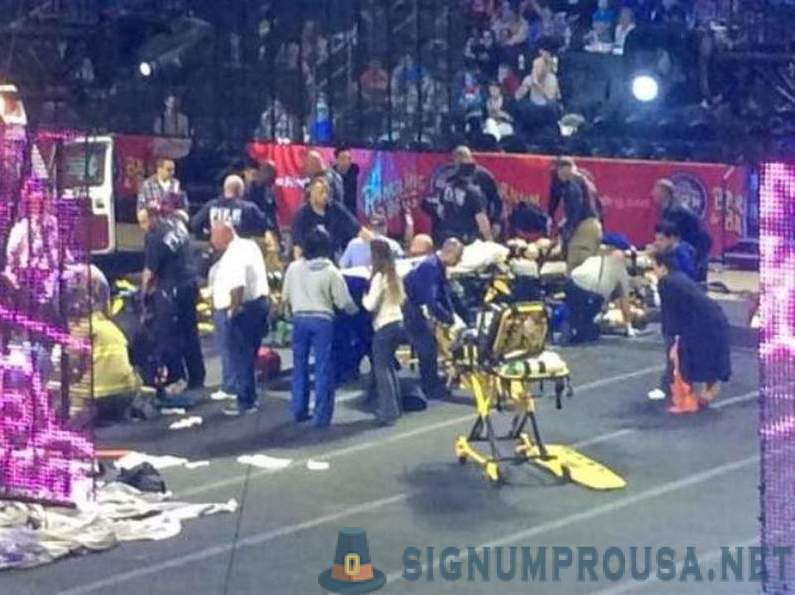 Tragedy on the circus arena