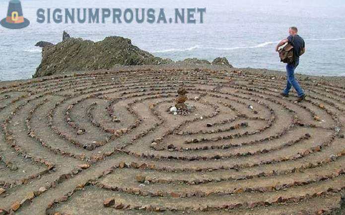 Labyrinths of antiquity, which could lead to despair of any