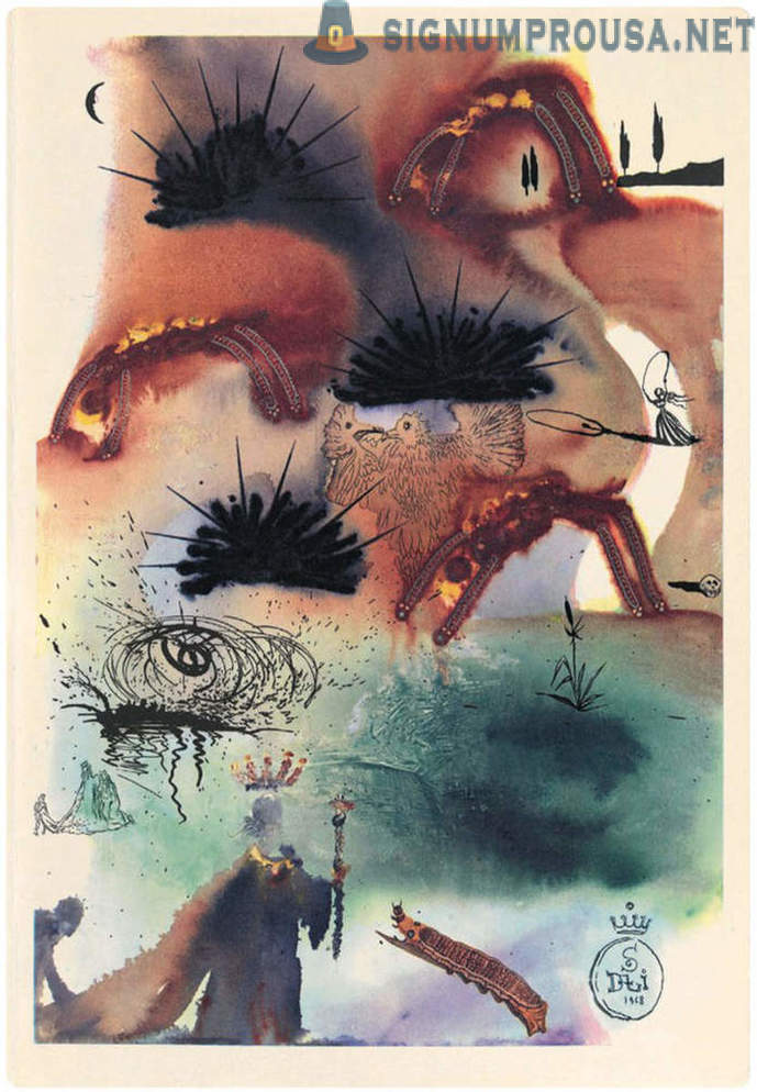 Unknown illustrations of Salvador Dali in