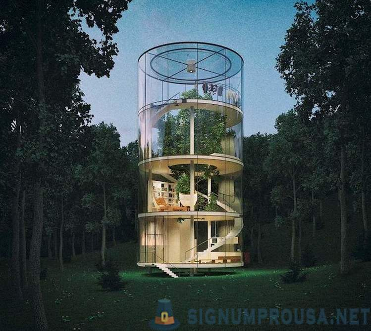 12 structures built around trees