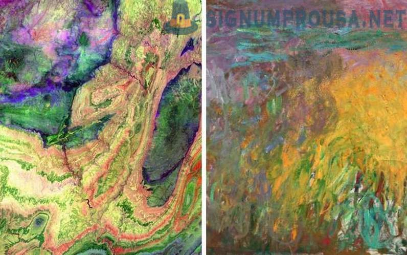 Pictures of the Earth from space remarkably similar to famous paintings