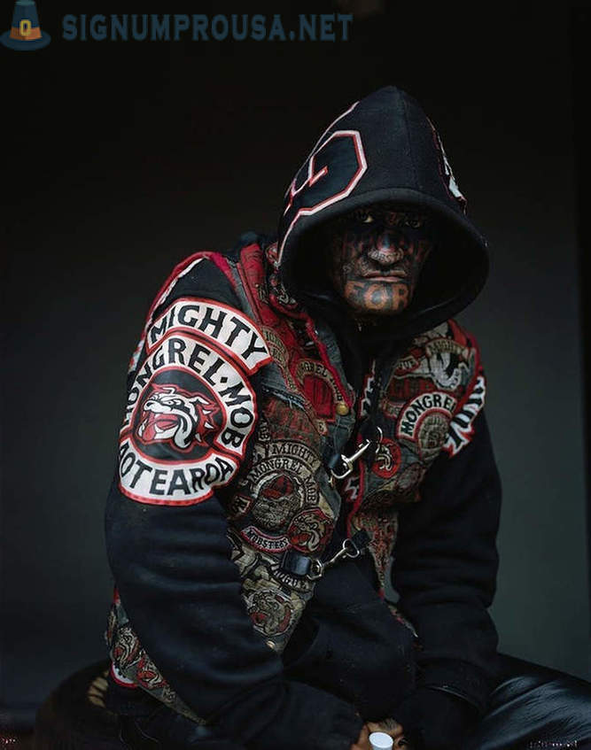 Brutal New Zealand group Mighty Mongrel Mob