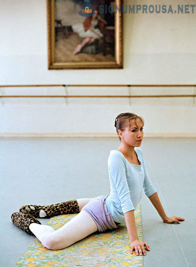 Russian ballet in a photo project future American