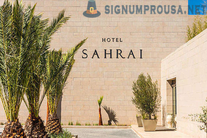 Sahrai five-star hotel in Morocco