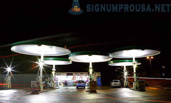 Petrol stations around the world
