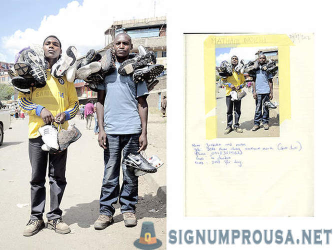 How are street vendors in the slums of Nairobi