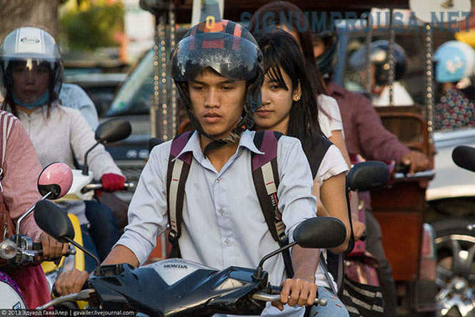 Cambodia. In the streets of Phnom Penh