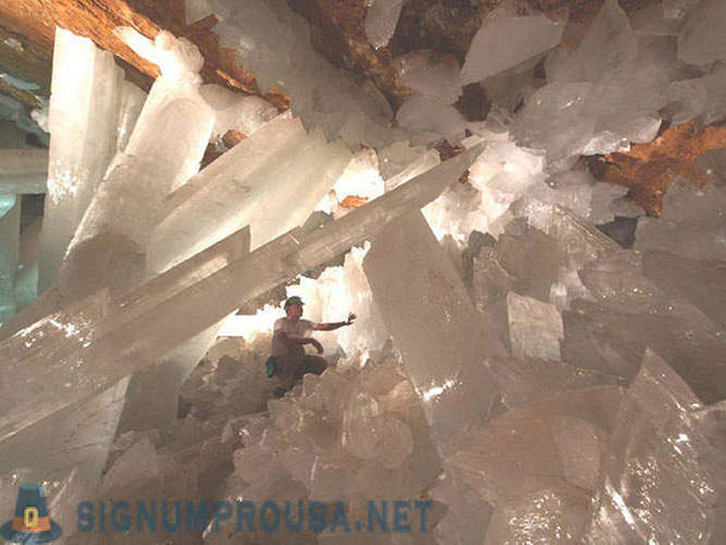 Cave giant crystals