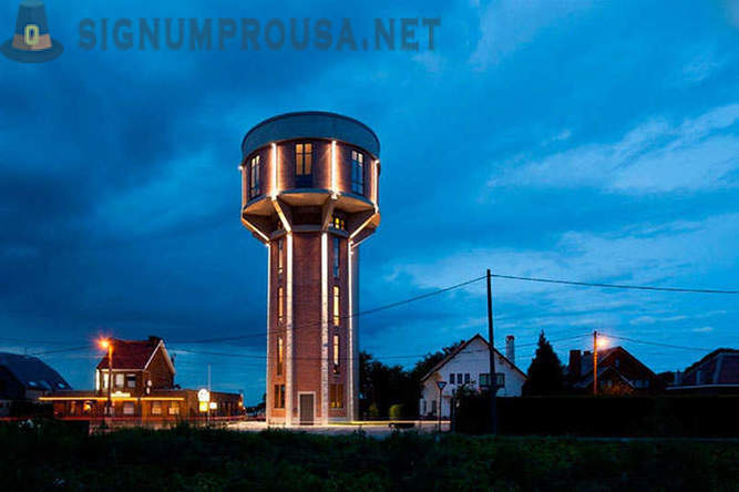 House in a water tower