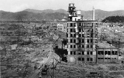 Hiroshima and Nagasaki after the fall of the atomic bomb