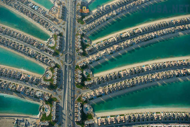 The artificial islands in Dubai